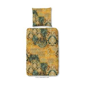 Obliečka na dvojlôžko z bavlneného saténu zouzou Kriro Grey, 200 x 200 cm