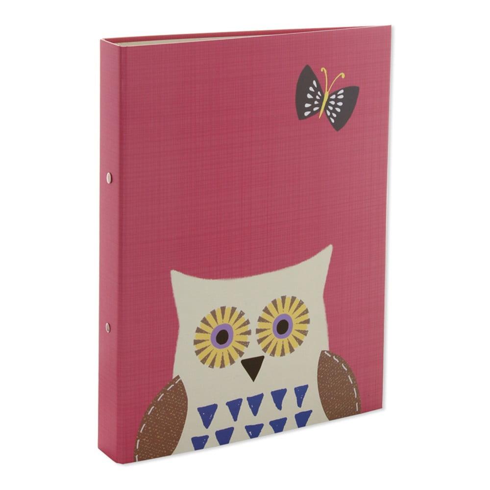 Ružové dosky na dokumenty A4 GO Stationery Owls