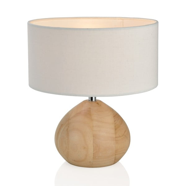 Drevená lampa Nature, biela