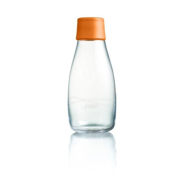 Oranžová sklenená fľaša ReTap s doživotnou zárukou, 300ml