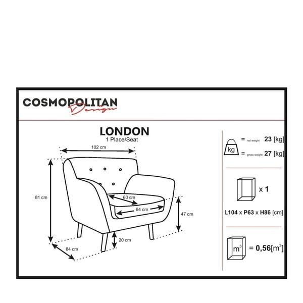 Sivobéžové kreslo Cosmopolitan design London