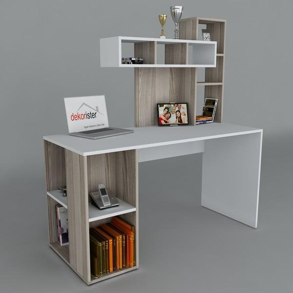 Pracovný stôl Coral White/Cordoba, 60x140x153,8 cm