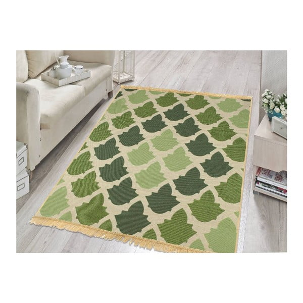 Zelený koberec Floorist Baklava Green,80x150cm