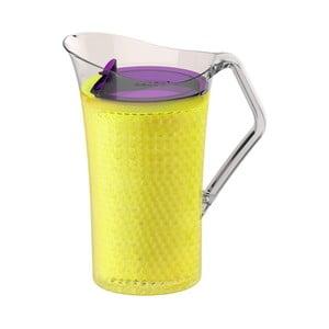 Žltý plastový džbán Asobu Iceberg Pitcher, 1,478 l
