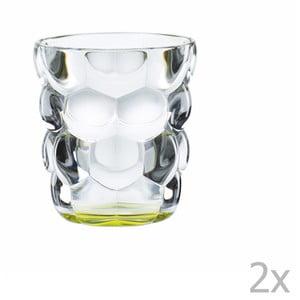 Sada 2 pohárov z krištáľového skla Nachtmann Bubbles Green, 330 ml
