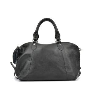 Čierna kožená kabelka Mangotti Debra