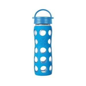 Sklenená fľaša na vodu so silikónovým chráničom Lifefactory Ocean Classic, 475 ml