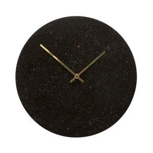 Nástenné mramorové hodiny Hübsch Brandi, ø 35cm