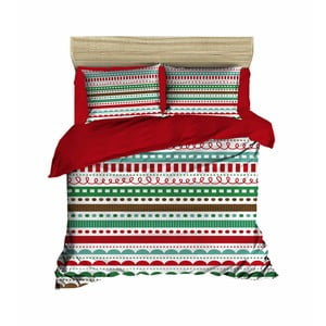 Vianočné obliečky na dvojlôžko s plachtou Olivier, 200×220 cm