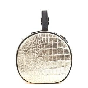 Kožená listová kabelka v zlatej farbe Mangotti Bags Aura