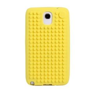 Pixelový obal na Samsung Note 3, stredne žltá