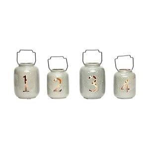 Sada 4 keramických lampášov Hübsch Kresten