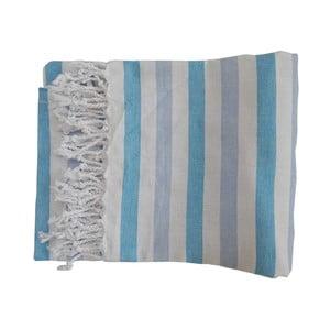Pruhovaná ručne tkaná osuška z prémiovej bavlny Afrika, 100×180 cm