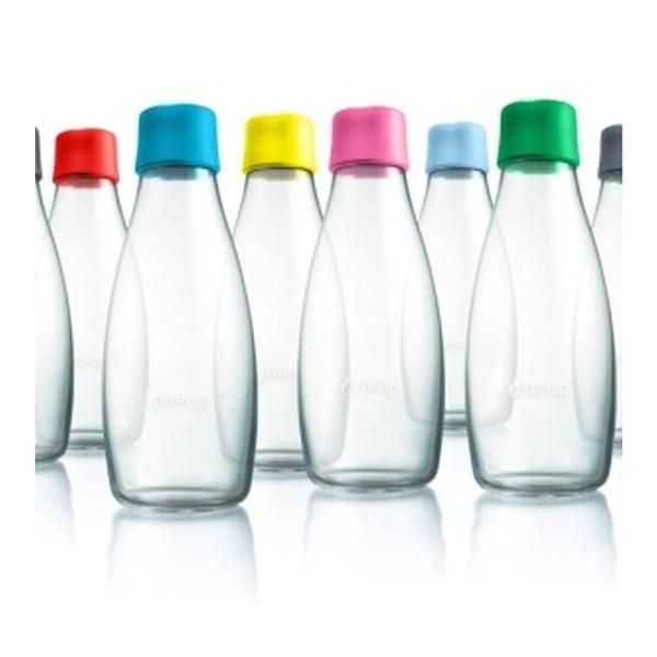 Červená sklenená fľaša ReTap s doživotnou zárukou, 500 ml