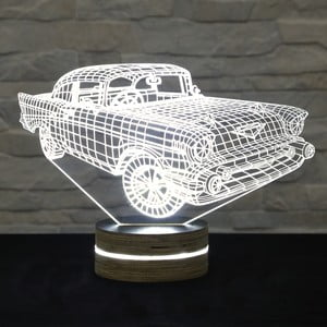 3D stolová lampa Super Car