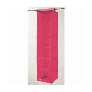 Ružový závesný organizér s 6 priehradkami Compactor Garment