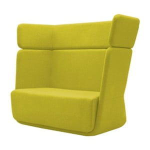 Žlté kreslo Softline Basket Felt Melange Yellow