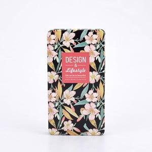 Plechový zápisník Garden, čierny