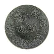 Čierny ozdobný tanier Antic Line Roses,⌀25,5cm