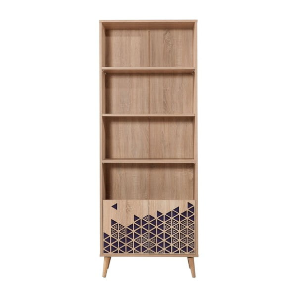 Knižnica Booki Blue, 198×75 cm