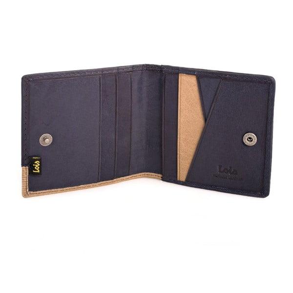 Kožená peňaženka Lois Blue, 9,5x9,5 cm