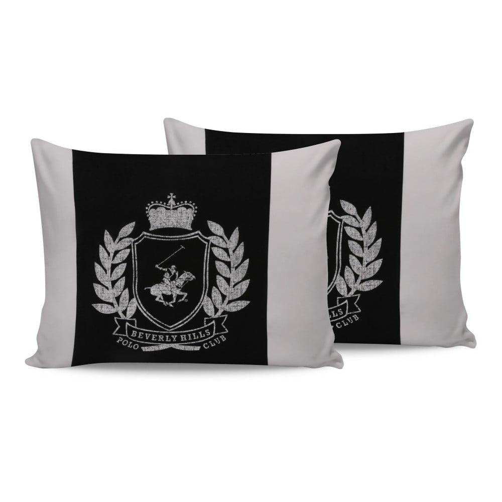 Sada bavlnených 2 obliečok na vankúš Polo Club Royal, 50 × 70 cm