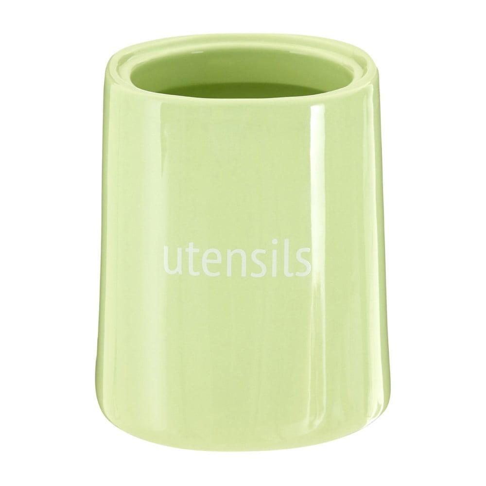 Zelená nádoba na kuchynské nástroje Premier Housewares Fletcher, 800 ml