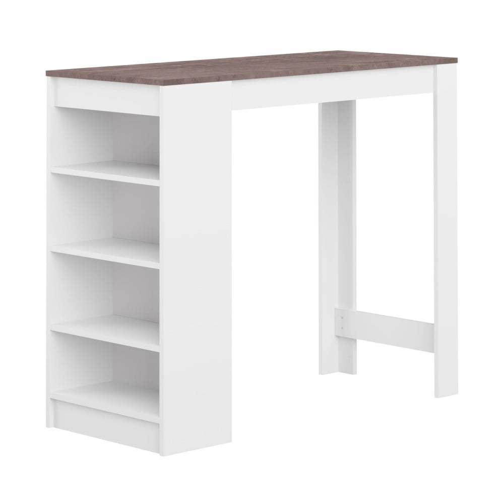 93a4ec489509 ... Biely barový stôl s hnedou doskou Symbiosis Auguste ...