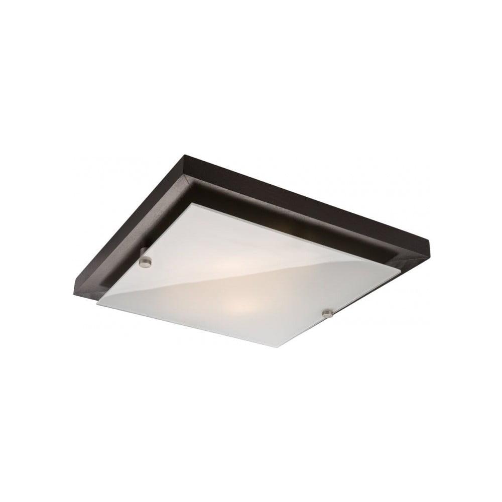 Čierne štvorcové stropné svietidlo Lamkur Plafond, 30 x 30 cm