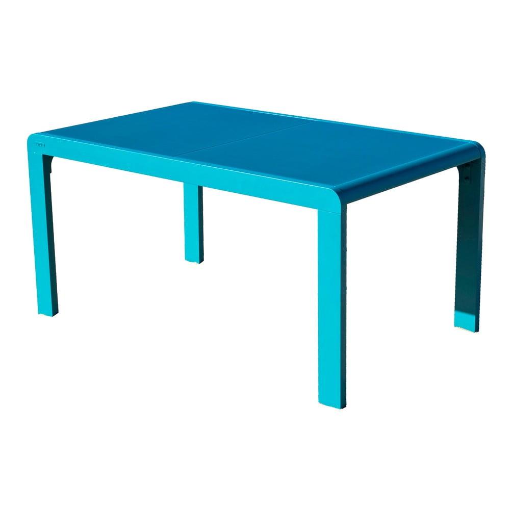 Tyrkysový záhradný stôl pre 4-6 osôb Ezeis Lineal