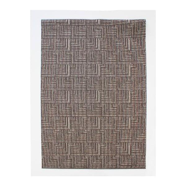 Koberec Pinnacle Dark Brown, 117x167 cm