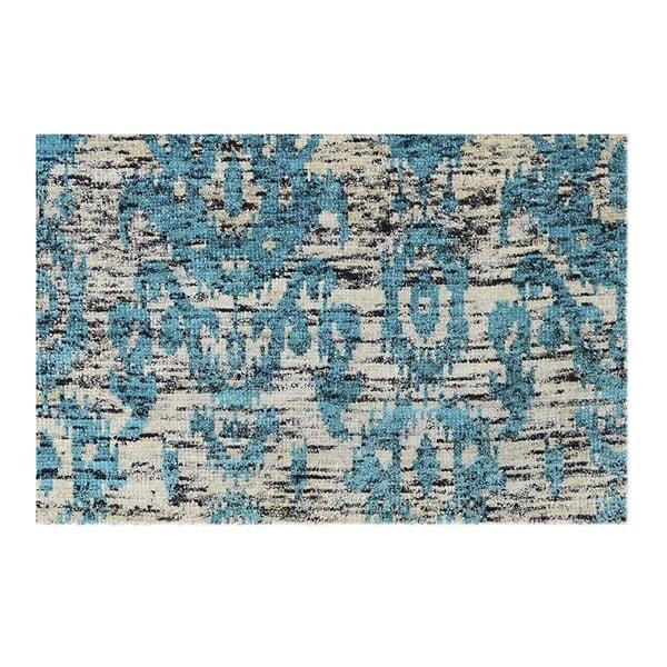 Ručne tkaný koberec Ikat Turquoise, 160x230 cm