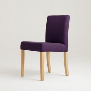 Fialová stolička s prírodnými nohami Custom Form Wilton