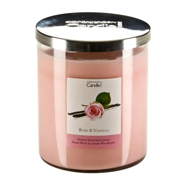 Aromatická sviečka s vôňou ruží a vanilky Copenhagen Candles, doba horenia 70hodín