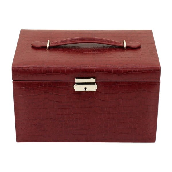 Šperkovnica Classico Red, 24x15x16 cm
