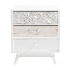 Biela komoda s 3 zásuvkami Kare Design Sweet Home