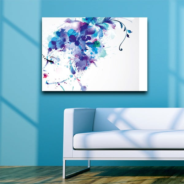 Obraz Modrá, 45x70 cm
