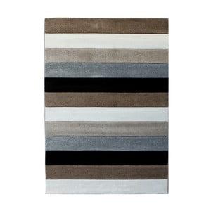 Sivo-hnedý koberec Tomasucci Lines, 140 x 190 cm