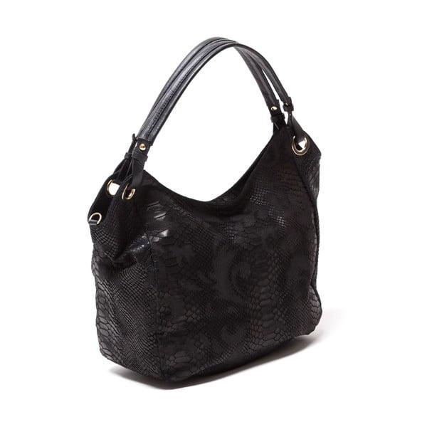 Kožená kabelka Amedea, čierna