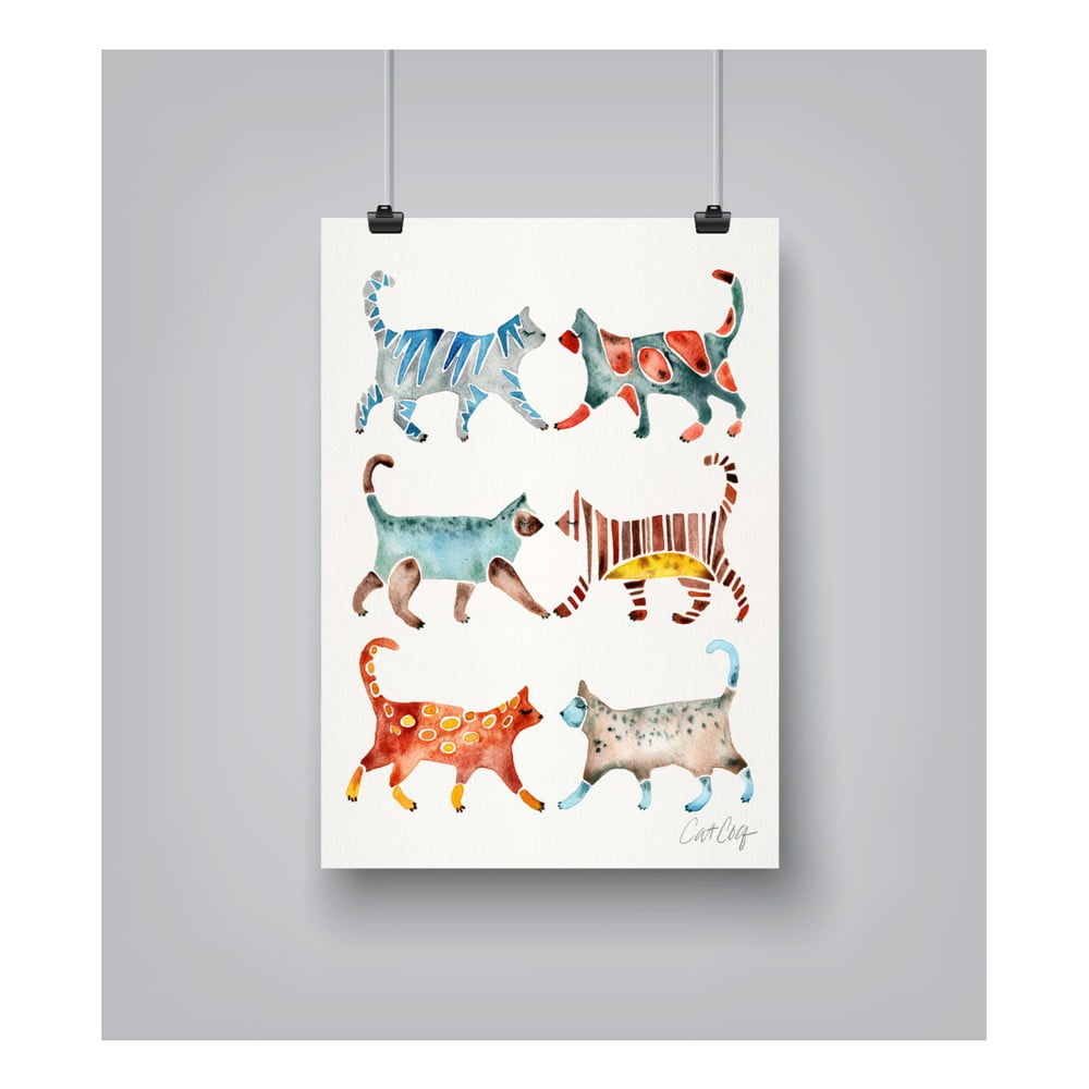 Plagát Americanflat Cat Collection, 30 x 42 cm