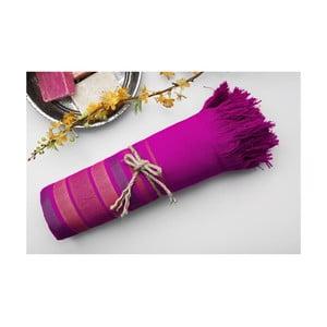 Hamam osuška Cotton Loincloth Violet Three, 75x170 cm