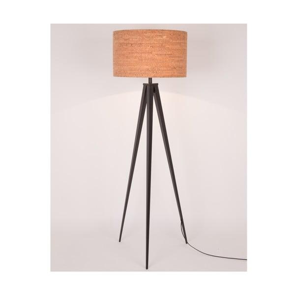 Korková stojacia lampa s čiernymi nohami Zuiver Tripod