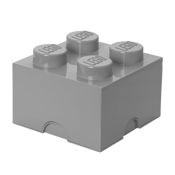 Sivá úložná kocka LEGO®