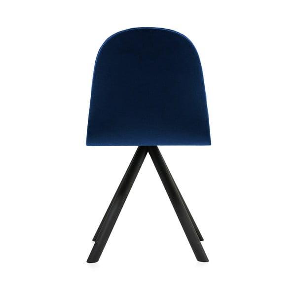 Tmavomodrá stolička s čiernymi nohami IKER Mannequin Triangle