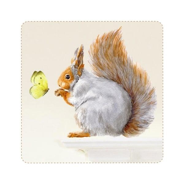 Samolepka na viac použití Grey Squirrel, 32x30 cm