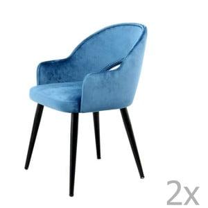 Sada 2 modrých jedálenských stoličiek 360 Living Veit