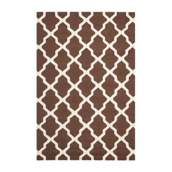 Vlnený koberec Ava Brown, 182x274 cm