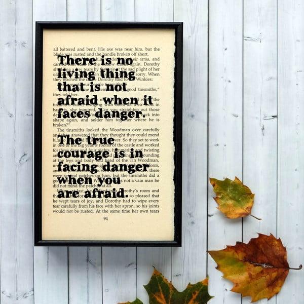 Plagát v drevenom ráme Wizard of Oz Danger