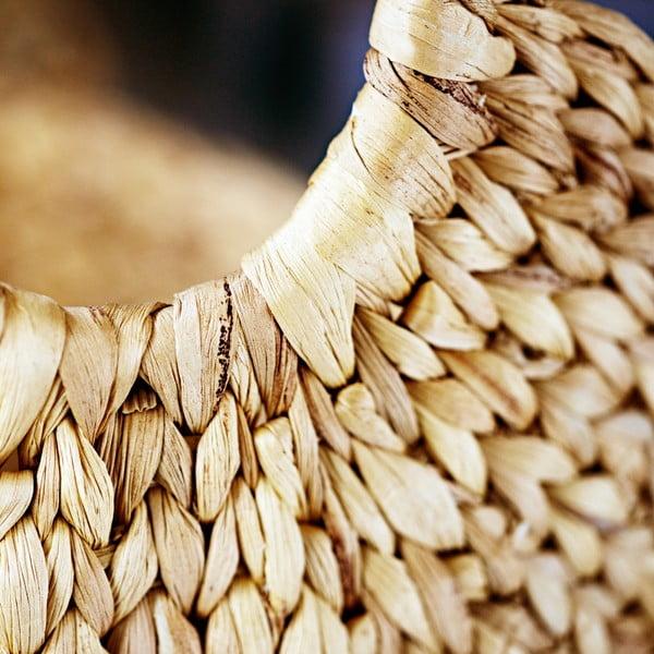 Ručne vyrábaný košík z vodného hyacintu a'miou home Rena, šířka 39cm
