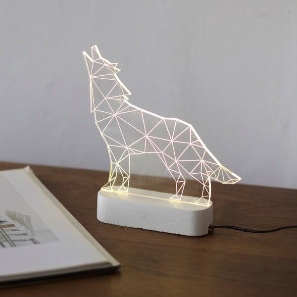 Náladové svetlo Wolf, biely podstavec
